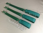 Green Cloth Covered Prong Collar - Small