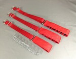 Red Cloth Covered Prong Collar - Small